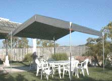 & Light Weight Portable Shelter with valance tarp top